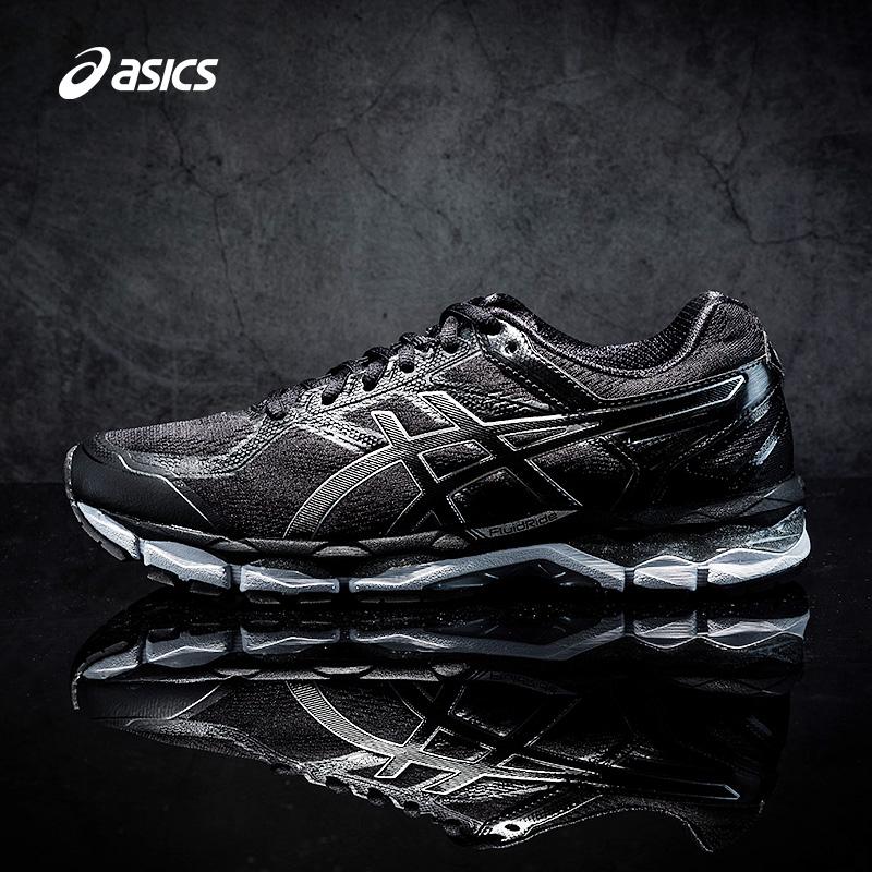 ASICS亚瑟士黑色网面透气稳定跑步鞋旗舰经典运动男鞋T6B4N-9099