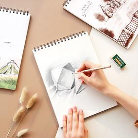 云木杂货 线圈素描本涂鸦本16kA4速写本空白手绘本彩铅美术画画本