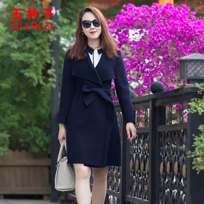 小个子韩版秋冬天外套女双面羊毛绒西装中长款羊毛呢加厚2018新款