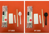 Disposable chopsticks set bamboo chopsticks, paper towels, toothpicks, soup spoons, four-in-one tableware package