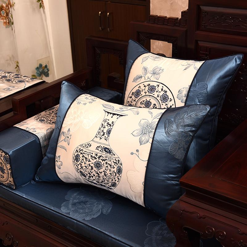 青花瓷沙发垫