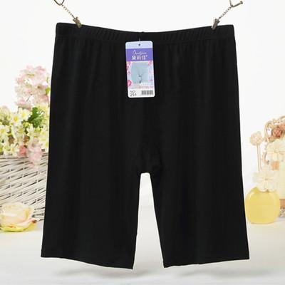 胖mm加肥加大码莫代尔薄款女夏防走光五分长款安全裤打底保险短裤