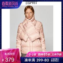 轻薄款羽绒服女短款轻羽绒外套女冬围巾领ESPRIT-088EO1G043图片