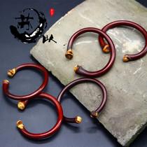 西藏山南鸡雪藤手镯藤镯无节有节木手镯男女手工送人藏银天然情侣