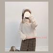 【鹿大仙】自制 温暖又好穿的毛绒绒小高领打底衫宽松卫衣套头衫