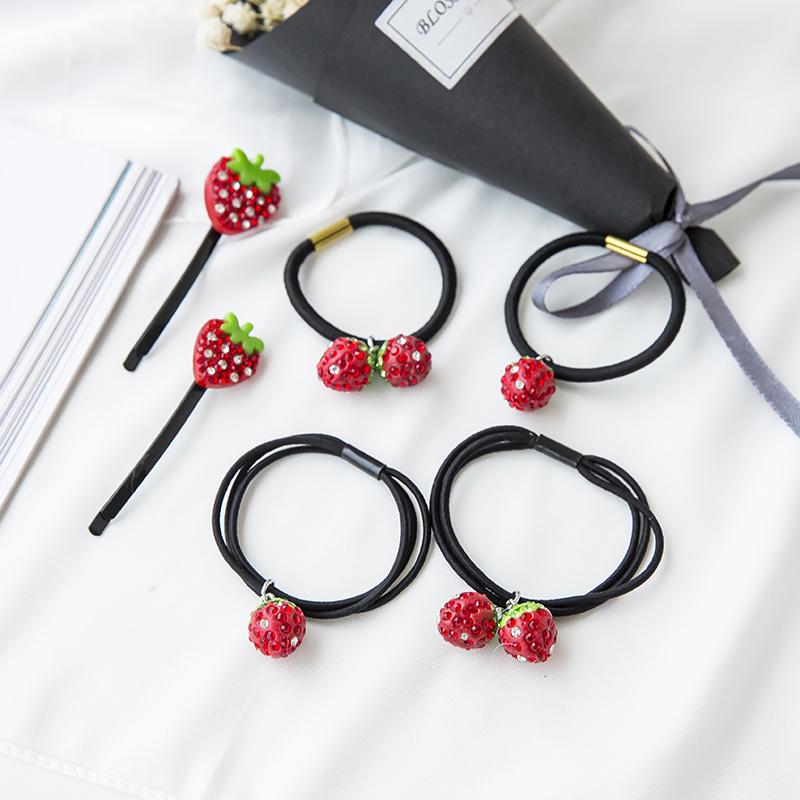 草莓发夹子