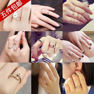 简约小指饰品指环食指冷淡风网红戒指女日韩潮人学生清新尾戒个性