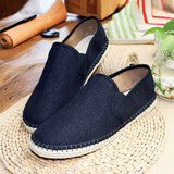 Elegant people hand-made layered shoes walking shoes breathable shoes office casual men's shoes linen shoes