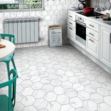 爵士白六角砖北欧风格大理石六边砖石纹通体砖餐厅厨房卫生间防滑