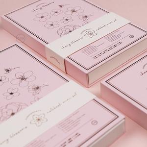 九口山原创文具樱花粉色笔记本套装开学季日礼物手帐本礼盒