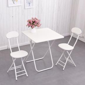 简易折叠桌便携正方形餐桌摆摊桌家用吃饭桌子小方桌阳台洽谈方桌