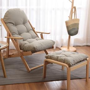 北欧实木躺椅折叠椅懒人休闲椅 午休沙滩椅简约阳台靠背椅沙发椅