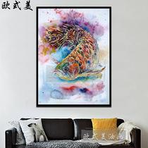 新款和風浮世繪復古紙貼紙壽司料理店海報日式裝飾墻貼壁紙2018