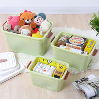 Storage box clothes toy storage box plastic covered household clothes storage box extra large clearance three sets