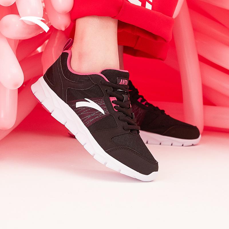 安踏女鞋跑步鞋2019新款秋季正品耐磨革面防滑运动鞋学生慢跑鞋