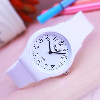 简约小清新女生手表 时尚中小学生石英防水电子腕表 女孩款韩版表