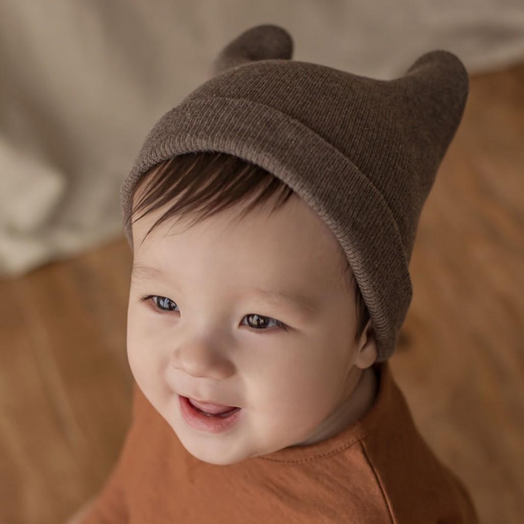 M514韩国进口正品新款男女宝宝帽婴儿童包头帽子春秋季棉线套头帽