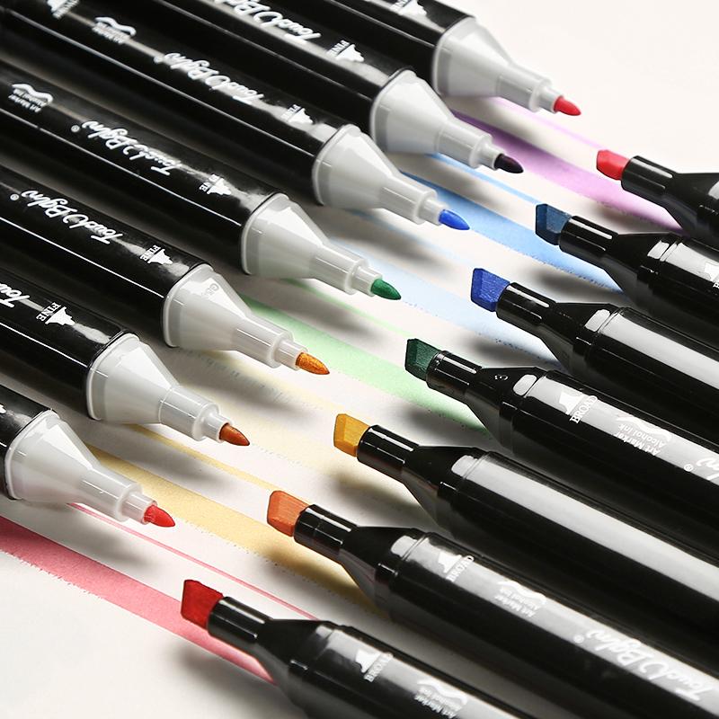 Touch双头手绘动漫马克笔套装30色学生油性设计手绘笔40/60/80色