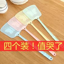 苍蝇拍塑料加厚长柄大号手动夏季蚊蝇拍厨房家用塑料拍耐用拍不烂