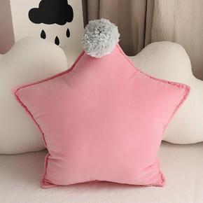 ins创意星星抱枕少女心可爱公主风沙发床靠枕毛绒靠垫午睡枕头