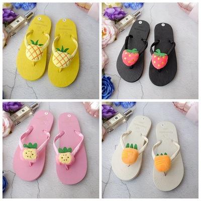 新款韩国原宿软妹菠萝草莓水果拖鞋女夏学生可爱平底人字拖沙滩鞋