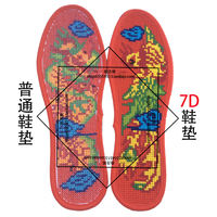 7D printing and embroidery one precision printing cross stitch insoles semi-finished products men and women embroidered sweat-absorbent deodorant does not fade