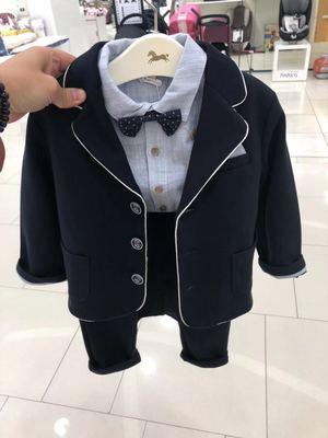韩国中小童装 2019秋季新品男童宝宝英伦风小西服 儿童西装外套