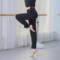 Modal beamed radish pants, wide banded leg shape, modern dance trousers, flared slimming pants