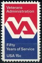 美国1980邮票 退伍军人管理局 徽志 1全 原胶全品