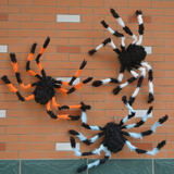Halloween Decorations Prank Whole People Funny Toys Ghost Festival Supplies Plush Spider Colored Flower Spider