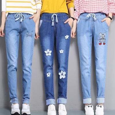 初中学生大童女装秋装宽松牛仔裤薄款长裤子12-13-14-15-16-18岁