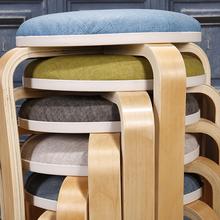 守镜首邮鄙胸创意客厅小椅子家用高圆凳简约软面餐桌板凳成人餐椅