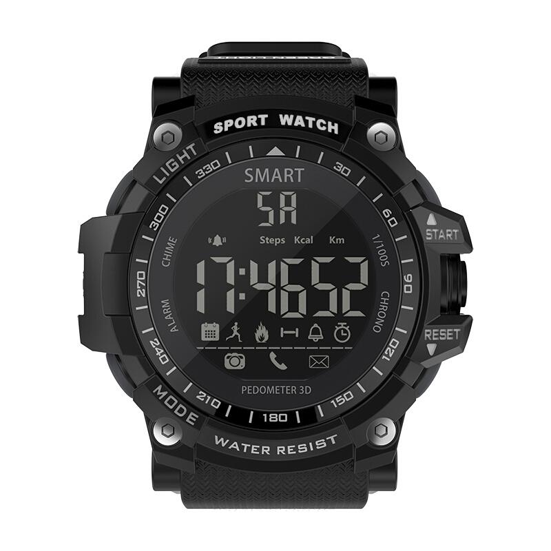 纽曼EX16蓝牙智能电子手表手环男士户外运动防水秒表计步遥控拍照