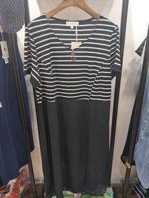 芮娜依莲81075新款18夏大码女装显瘦加肥加大胖mm230斤宽松连衣裙