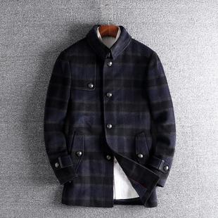 羊毛绒混合男款 修身 男士 青年羊毛呢子大衣2018新款 外套潮7006 韩版
