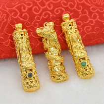 镶钻小象项坠富贵象泰国象配件DIY不褪色真空镀金金色大象吊坠