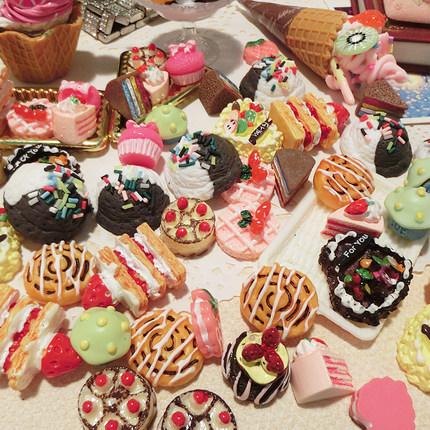 草莓蛋糕面包仿真奶油胶手机壳手工diy制作树脂配件材料 f