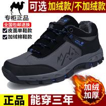 督马男士休闲鞋百搭板鞋男皮鞋韩版加绒鞋子真皮男鞋棉鞋冬季潮鞋