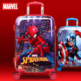 Marvel new trolley case Spider-man suitcase baby can sit boy suitcase US captain password box new
