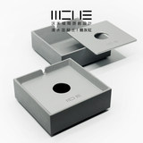 E Wo Wo faced concrete cement ashtray modern minimalist living room B & B Bar Hotel home office