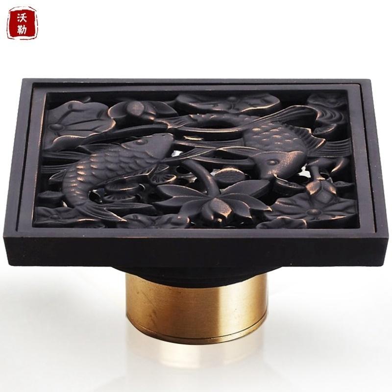 加厚防虫黑色地漏防臭地漏淋浴房黑古铜色
