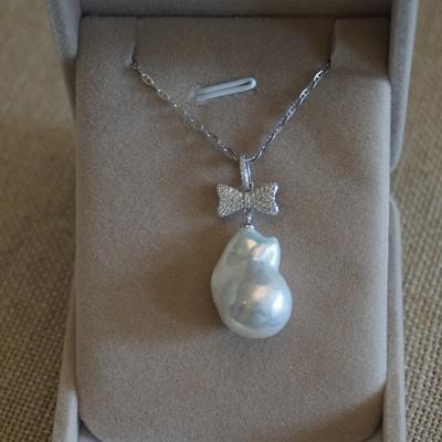 一米  天然淡水 巴洛克异形珍珠一物一图 S925  项链