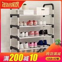鞋柜简易经济型省空间家用多功能门口鞋架特价防尘实木组装收纳柜
