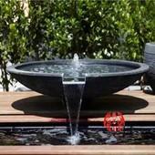 喷泉流水石钵别墅水系庭院水景观石雕鱼缸景观花园装饰品落地摆件