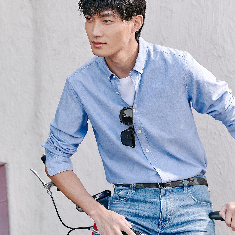 HLA/海澜之家简约太阳镜2018夏季热卖复古遮阳墨镜男