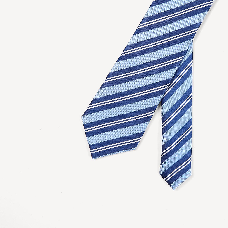 HLA/海澜之家斜条纹桑蚕丝领带2018春季新品舒适时尚男士领带