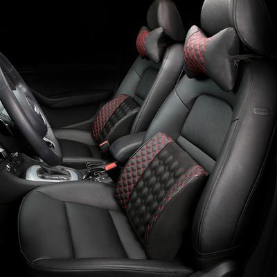 汽车靠垫腰垫车载腰靠电动按摩靠背座椅头枕套装腰部支撑车用护腰
