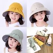 儿童空顶帽夏季薄款 大檐防晒遮阳帽可爱宝宝太阳帽韩女童渔夫帽潮