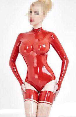 【素依】乳胶衣 女 cos kig打底衣 3D分割 连手袖  套装 定做