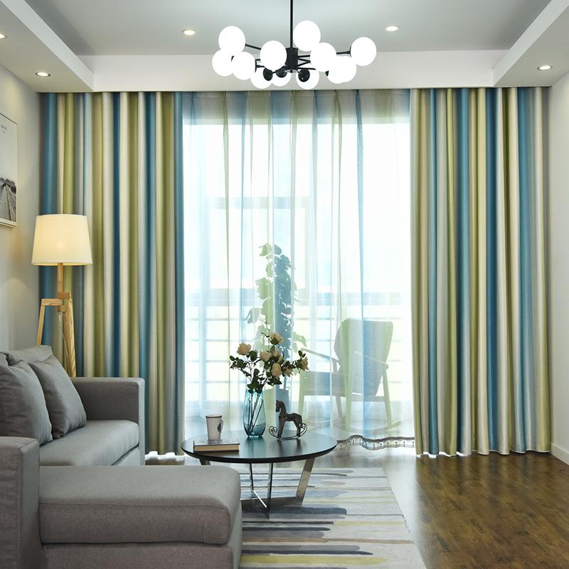 客厅窗帘双面印花